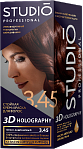 STUDIO 3D Long Lasting Colour Cream 3D HOLOGRAPHY 3.45 Dark Chestnut