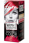 "Fara WOW Colors wash off cream dye ""Ruby Red"" 80ml"