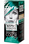 "Fara WOW Colors wash off cream dye ""Turquoise Pearl"" 80ml"