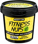 Beauty Jar FITNESS NUTS - body scrub with cacao and sugar, 200g